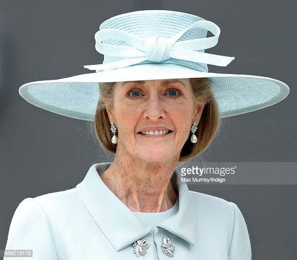 Lady Penny Brabourne attends a national service of thanksgiving to mark Queen Elizabeth II's 90th birthday at St Paul's Cathedral on June 10 2016 in...