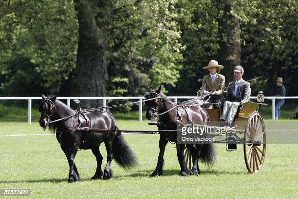 Lady Penny Brabourne competes in the Land Rover International Driving Grand Prix on May 11 2006 in Windsor England