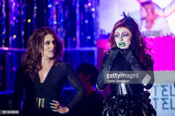 Lady Portia Di'Monte and Blu Hydrangea perform at Culture Night Belfast on September 22, 2017 in Belfast, Northern Ireland.