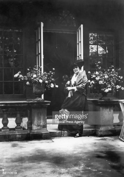 Lady Randolph Churchill nee Jennie Jerome the mother of British statesman Winston Churchill at her Brook Street residence August 1914