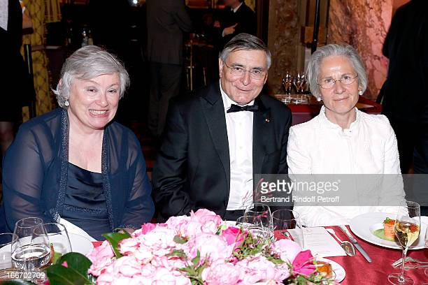 Lady Ricketts JeanLouis Beffa and Germany Ambassador Suzanne WasumRainer attend Tricentenary of the French dance school AROP Gala at Opera Garnier on...