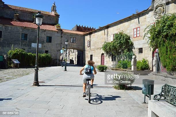 Lady riding the bike