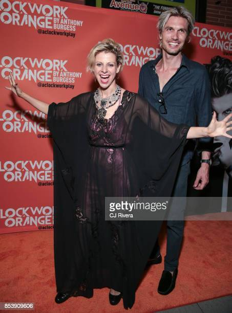 Lady Rizo and guest attend the OffBroadway opening night of 'A Clockwork Orange' at New World Stages on September 25 2017 in New York City