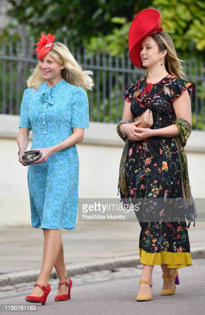 Lady Rose Gilman and Lady Marina Windsor attend the wedding of Lady Gabriella Windsor and Thomas Kingston at St George's Chapel on May 18, 2019 in...