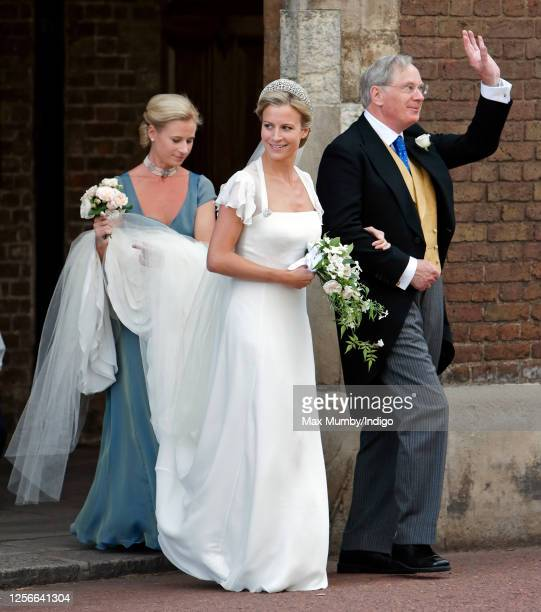 Lady Rose Windsor , accompanied by her father Prince Richard, Duke of Gloucester and sister Lady Davina Lewis, arrives at The Queen's Chapel, St...