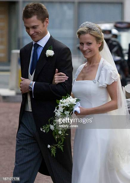 Lady Rose Windsor Youngest Daughter Of The Duke Duchess Of Gloucester With Her New Husband George Gilman At The Queens Chapel London