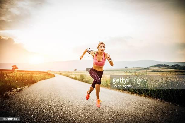 Lady running