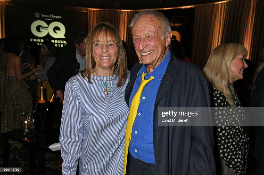 Lady Ruth Rogers (L) and Lord Richard Rogers attend the GQ Food & Drink Awards at Rosewood London on April 23, 2018 in London, England.