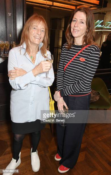 Lady Ruth Rogers and Sian Wyn Owen attend the Harper's Bazaar lunch to celebrate International Women's Day at 34 Mayfair on March 8 2018 in London...