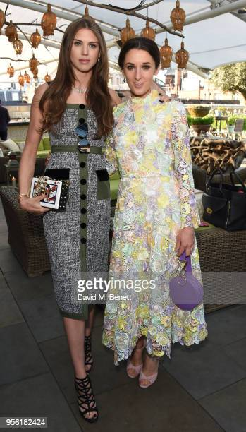 Lady Sabrina Percy and Rosanna Falconer attend the Royal Ascot Village Enclosure launch party at The Ham Yard Hotel on May 8 2018 in London England