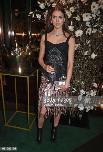 Lady Sabrina Percy attends the launch of Champagne Armand de Brignac Blanc de Blancs en Magnum at Casa Cruz on March 13 2018 in London England