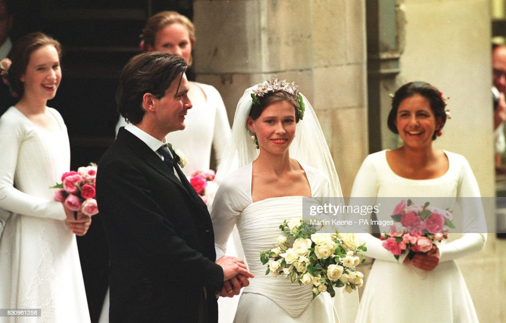 Royalty - Lady Sarah Armstrong-Jones and Daniel Chatto Wedding - St Stephen Walbrook Church : News Photo