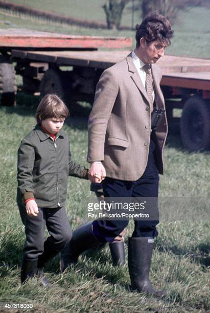 Lady Sarah ArmstrongJones with her cousin Prince Charles during the Badminton Horse Trials in Gloucestershire on 15th April 1972