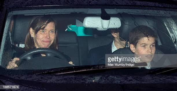 Lady Sarah Chatto and Arthur Chatto attend a Christmas lunch for members of the Royal Family hosted by Queen Elizabeth II at Buckingham Palace on...