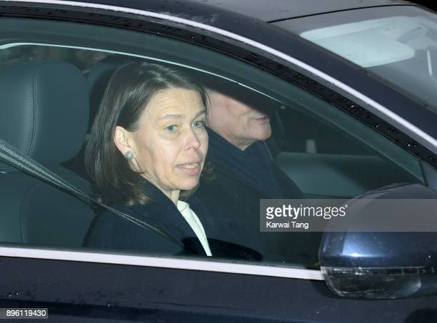 Lady Sarah Chatto and Daniel Chatto attend a Christmas lunch for the extended Royal Family at Buckingham Palace on December 20 2017 in London England