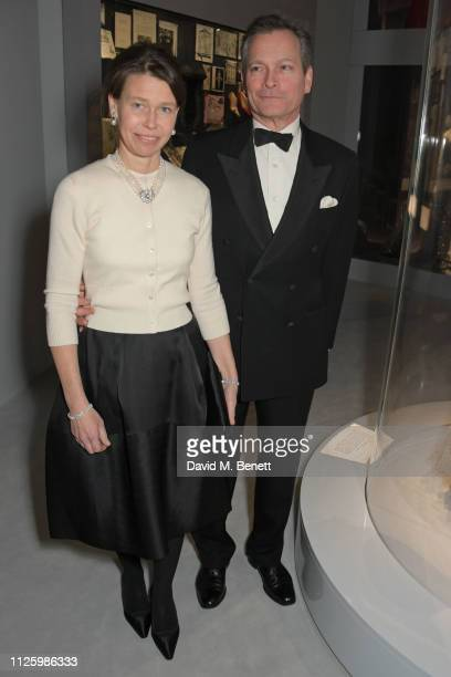 Lady Sarah Chatto and Daniel Chatto attend a gala dinner celebrating the opening of the Christian Dior Designer of Dreams exhibition at The VA on...