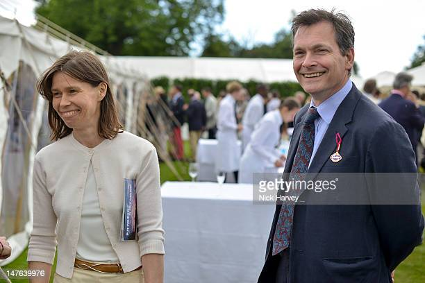 Lady Sarah Chatto and Daniel Chatto attend Cartier Style Luxe Lunch Reception at Goodwood Festival of Speed at Goodwood on July 1 2012 in Chichester...