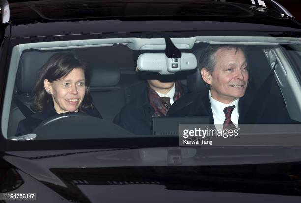 Lady Sarah Chatto and Daniel Chatto attend Christmas Lunch at Buckingham Palace on December 18 2019 in London England