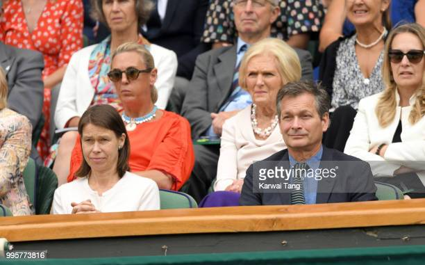 Lady Sarah Chatto and Daniel Chatto attend day eight of the Wimbledon Tennis Championships at the All England Lawn Tennis and Croquet Club on July 10...