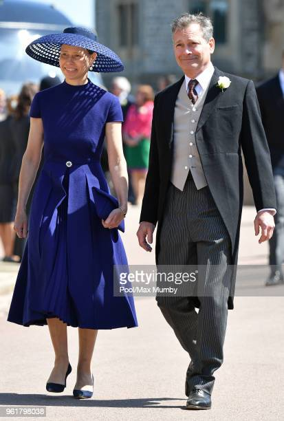 Lady Sarah Chatto and Daniel Chatto attend the wedding of Prince Harry to Ms Meghan Markle at St George's Chapel Windsor Castle on May 19 2018 in...