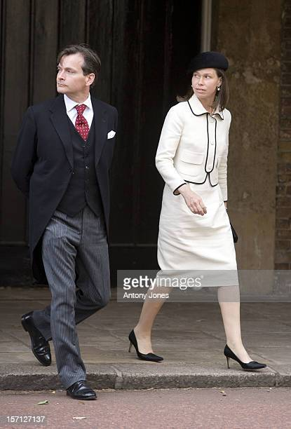 Lady Sarah Chatto Arrives At The Wedding Of Lady Rose Windsor Youngest Daughter Of The Duke Duchess Of Gloucester Who Marries George Gilman At The...