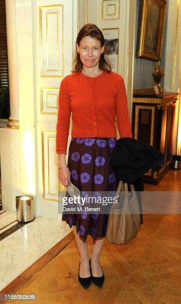 Lady Sarah Chatto attend An Enquiring Mind Manolo Blahnik At The Wallace Collection on June 10 2019 in London United Kingdom