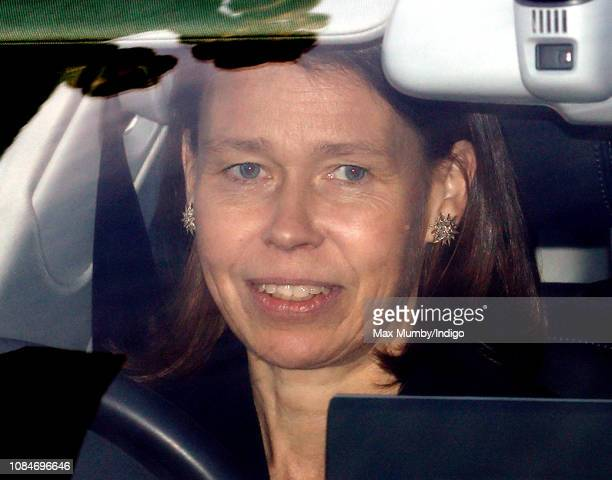 Lady Sarah Chatto attends a Christmas lunch for members of the Royal Family hosted by Queen Elizabeth II at Buckingham Palace on December 19 2018 in...