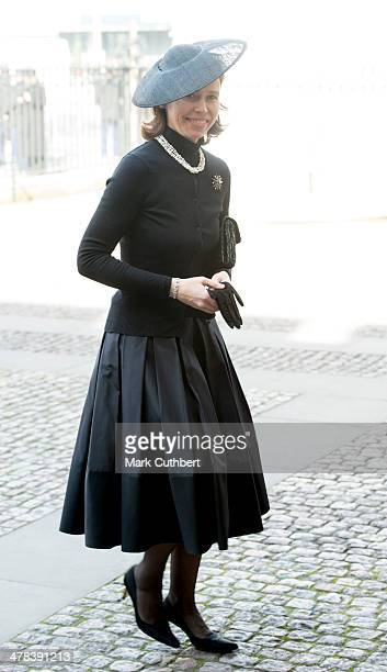 Lady Sarah Chatto attends a memorial service for Sir David Frost at Westminster Abbey on March 13 2014 in London England