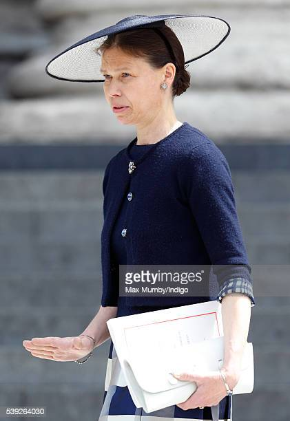 Lady Sarah Chatto attends a national service of thanksgiving to mark Queen Elizabeth II's 90th birthday at St Paul's Cathedral on June 10 2016 in...