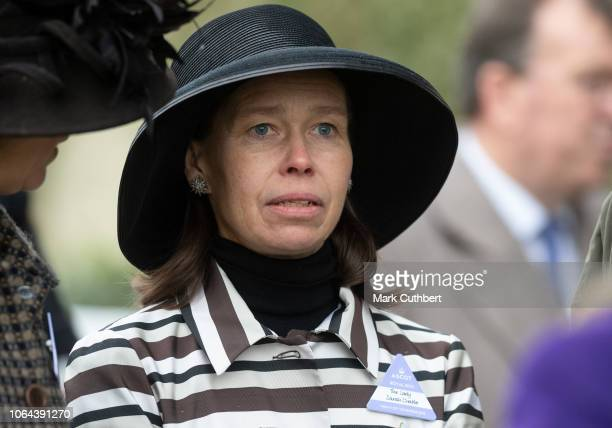 Lady Sarah Chatto attends the Princes Countryside Fund Racing Weekend at Ascot Racecourse on November 23 2018 in Ascot England