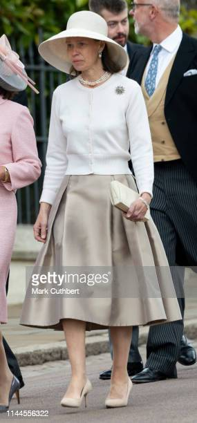 Lady Sarah Chatto attends the wedding of Lady Gabriella Windsor and Mr Thomas Kingston at St George's Chapel Windsor Castle on May 18 2019 in Windsor...