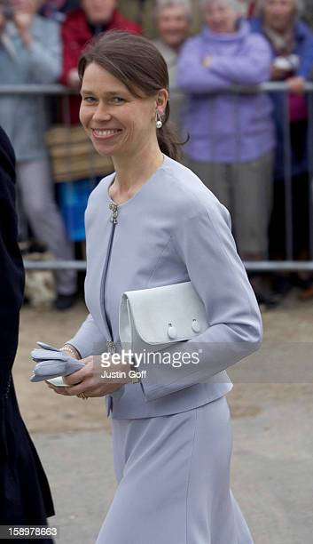 Lady Sarah Chatto Attends The Wedding Of Laura Parker Bowles Harry Lopes At St Cyriacs Church Lacock Wiltshire
