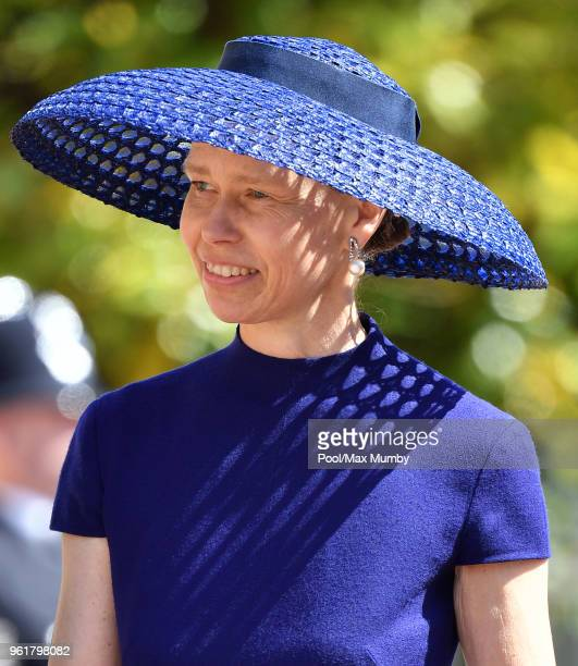 Lady Sarah Chatto attends the wedding of Prince Harry to Ms Meghan Markle at St George's Chapel Windsor Castle on May 19 2018 in Windsor England...