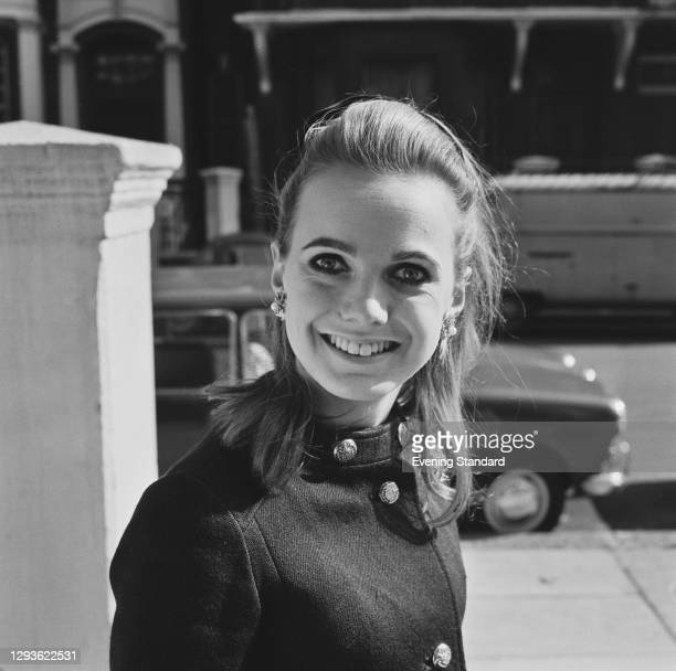 Lady Sarah Curzon, soon after her marriage to British racing driver Piers Courage, UK, 1966.