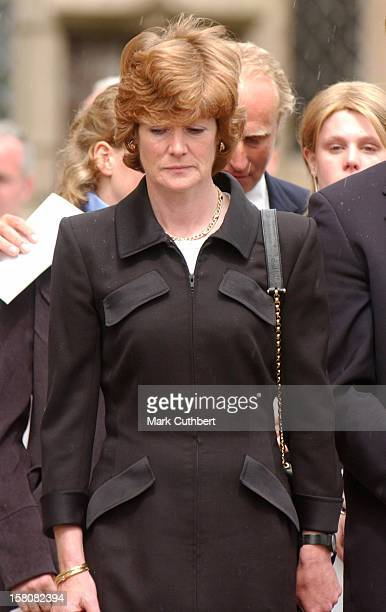 Lady Sarah Mccorquodale Attends The Funeral Of Frances Shand Kydd At St Columba'S Cathedral In Oban Scotland
