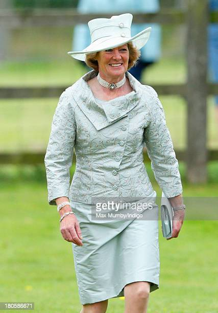 Lady Sarah McCorquodale attends the wedding of James Meade and Lady Laura Marsham at the Parish Church of St Nicholas in Gayton on September 14 2013...