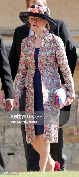 Lady Sarah McCorquodale attends the wedding of Prince Harry to Ms Meghan Markle at St George's Chapel Windsor Castle on May 19 2018 in Windsor...