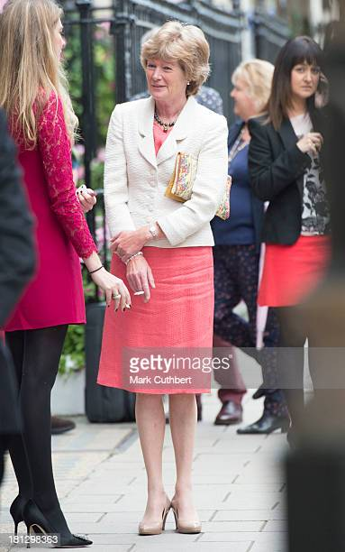 Lady Sarah McCorquodale attends the wedding reception of Alexander Fellowes and Alexandra Finlay at Claridges Hotel on September 20 2013 in London...