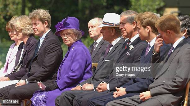 Lady Sarah McCorquodale Lady Jane Fellowes Earl Spencer HM Queen Elizabeth II the Duke of Edinburgh HRH Prince Charles Prince William and Prince...