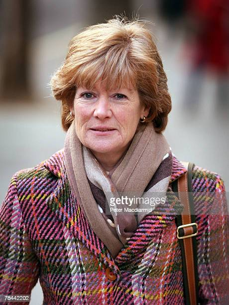Lady Sarah McCorquodale sister of Diana Princess of Wales arrives at The High Court on December 13 2007 in London The inquest into the death of Diana...