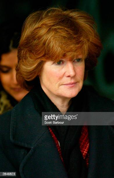 Lady Sarah McCorquodale sister of the late Diana Princess of Wales leaves after attending the opening of the inquest into the death of Diana Princess...