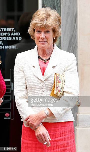 Lady Sarah McCorquodale smokes a cigarette outside Claridges Hotel before attending the wedding reception for Alexander Fellowes and Alexandra Finlay...