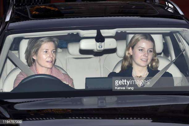 Lady Serena ArmstrongJones and Lady Margarita ArmstrongJones attend Christmas Lunch at Buckingham Palace on December 18 2019 in London England