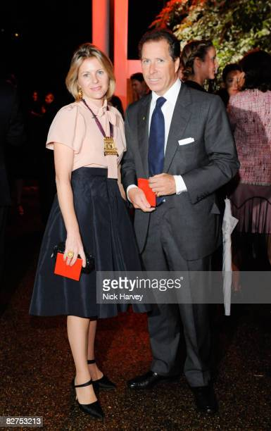 Lady Serena Linley and Viscount Linley attend the summer party at The Serpentine Gallery on September 9 2008 in London England