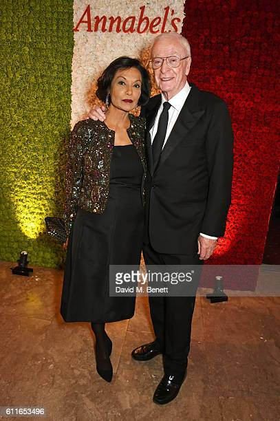 Lady Shakira Caine and Sir Michael Caine attend a VIP preview of the new site for Annabel's, 46 Berkeley Square, on September 30, 2016 in London,...