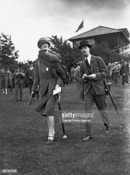 Lady Sibell Lygon later Sibell Rowley attends the second day of the York Races 6th August 1926