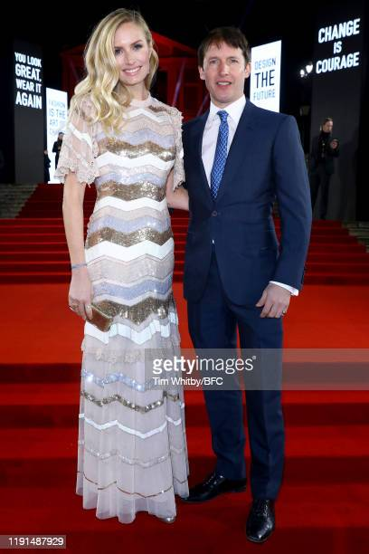 Lady Sofia Wellesley and James Blunt arrive at The Fashion Awards 2019 held at Royal Albert Hall on December 02 2019 in London England