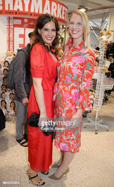 Lady Sophie Windsor and Lady Gabriella Windsor attend Hello Magazine's 30th anniversary party at Dover Street Market on May 9 2018 in London England