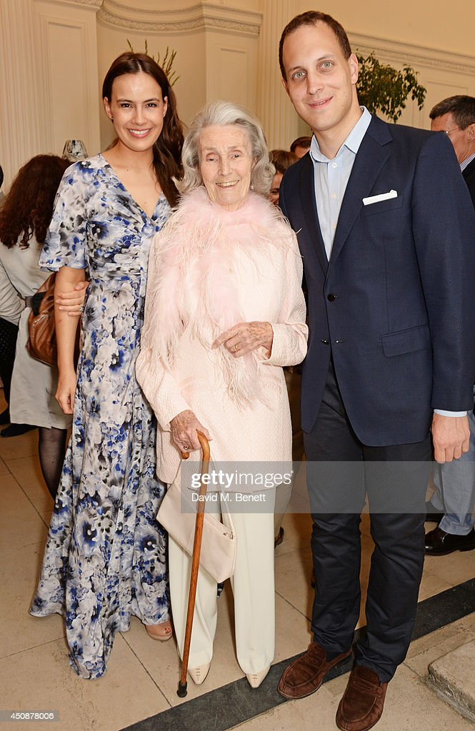 Lady Sophie Windsor, Princess George Galitzine and Lord Frederick Windsor attend the drinks reception hosted by Dockers, the San Francisco based apparel brand, at Kensington Palace on the eve of 'Dockers Flannels For Heroes' cricket match on June 19, 2014 in London, England.
