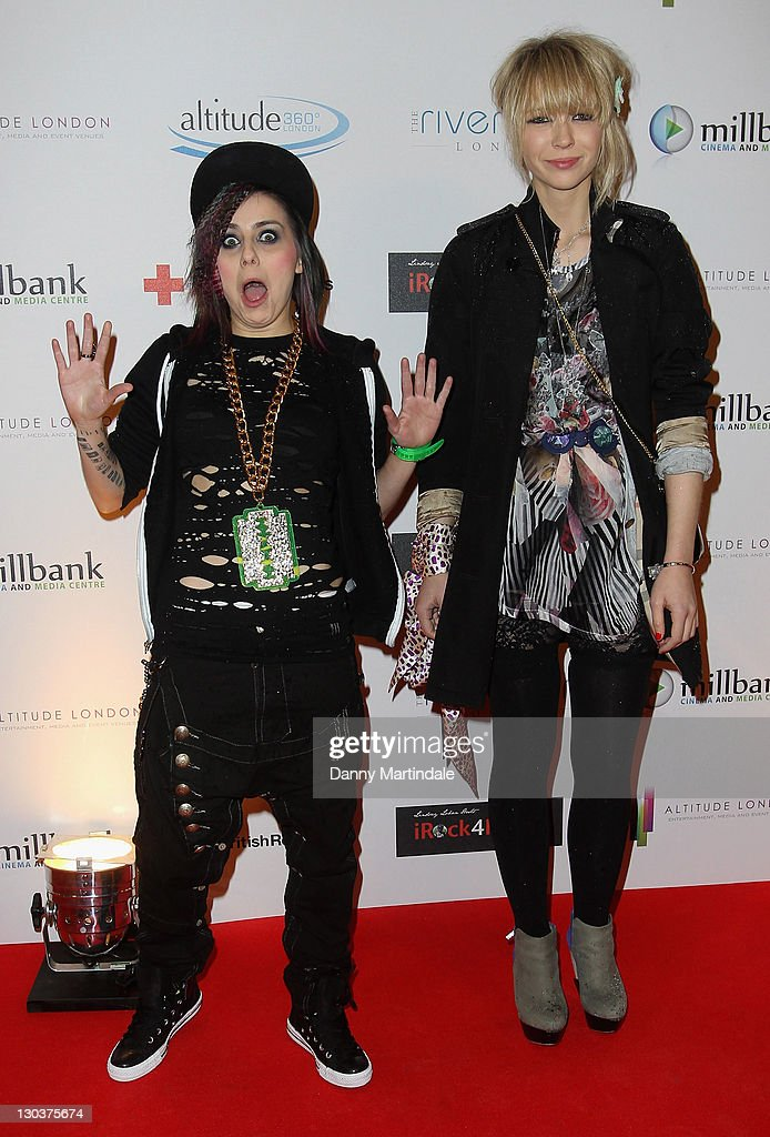 Lady Sovereign and Ekaterina Ivanova (R) attend a screening party for The Brit Awards 2010 at Altitude on February 16, 2010 in London, England.